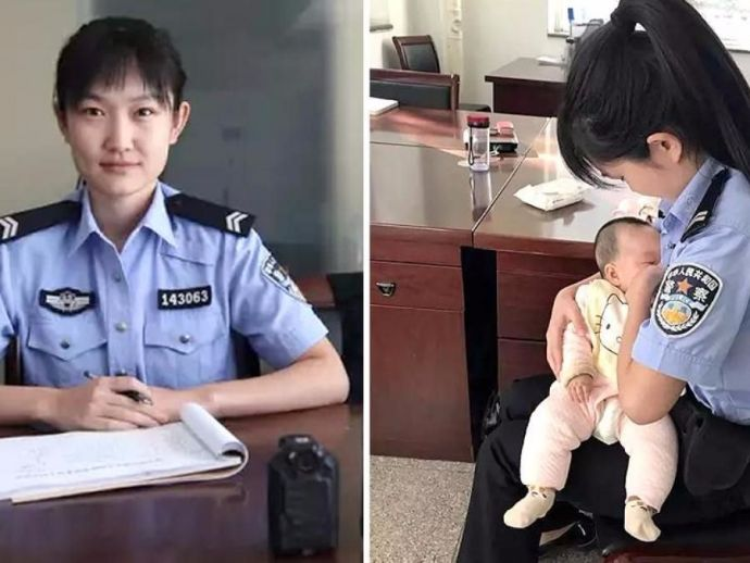 chinese, cop, breastfeed, baby, woman, trial, suspect