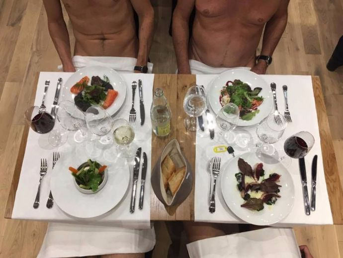Nude Hotel, Naked Restaurant, O'Naturel, Paris, France