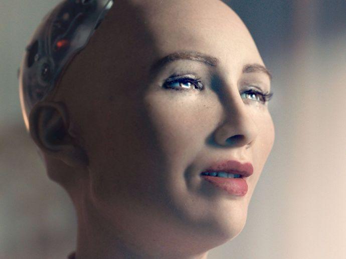 humanoid, robot, AI, citizen, Audrey Hepburn, model, conversation, humans, children, family, Sophia