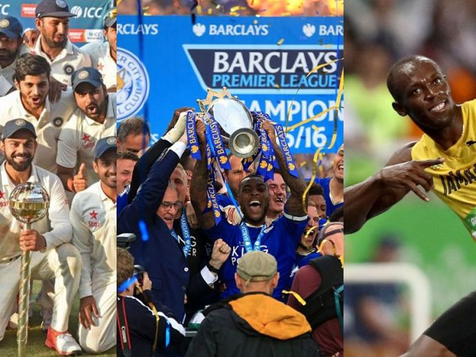 Sporting Moments 2016, Sporting Achievements 2016, Cristiano Ronaldo, Usain Bolt, Novak Djokovic, Michael Phelps, Leicester City, Cleveland Cavaliers
