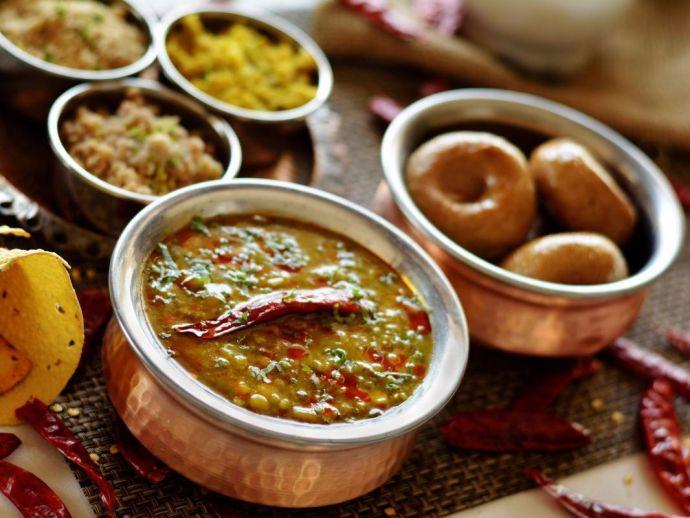 daal, baati, churma, rajasthan, cuisine, mewar