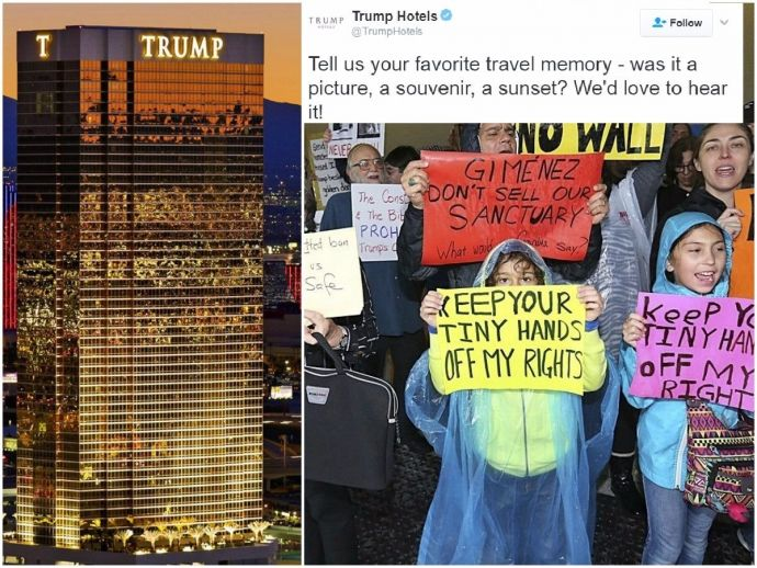 trump, immigrant, ban, refugee, twitter, trump hotels