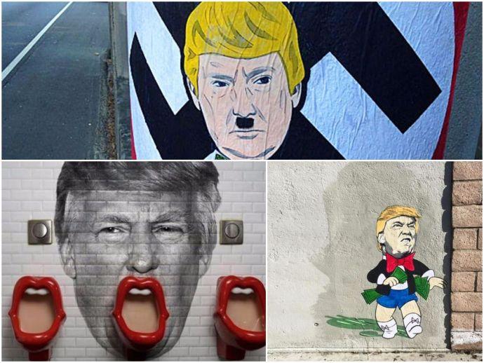Donald Trump, Street Art, Mural, Graffiti, Stencil