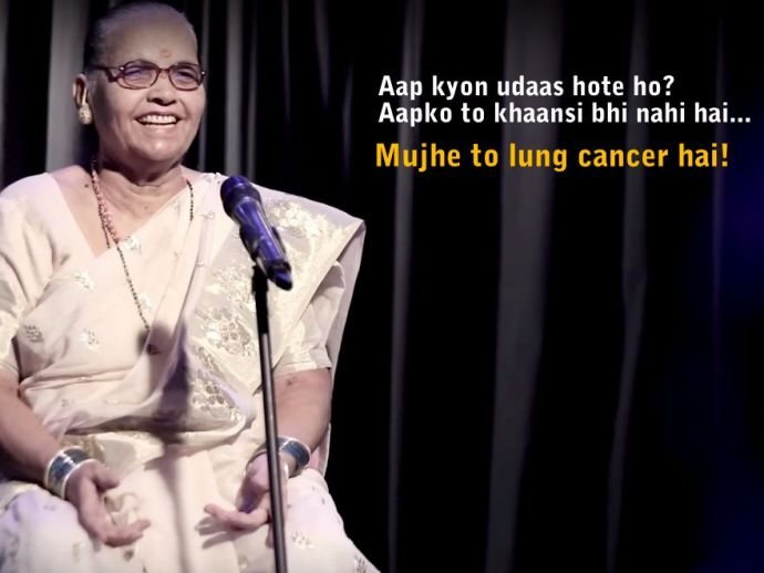 Indian Association for Palliative Care, terminally ill, senior citizens, standup comedy, patients, jokes, death, sickness, stand up comedy by palliative care, stand up comedy diseased person, stand up comedy by ill person