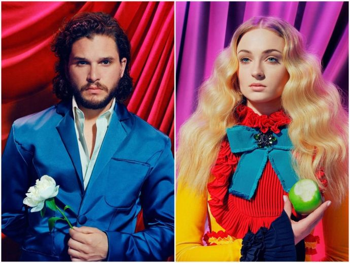game of thrones, george r r martin, a song of ice and fire, GoT, TIME, magazine, cover, photo shoot, story, HBO, d b weiss, david benioff, miles aldridge, emilia clarke, daenerys targaryen, jon snow, kit harington, cersei lannister, lena headey, peter din