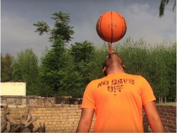 sandeep singh, basketball, Guinness World Records, Punjab, toothbrush