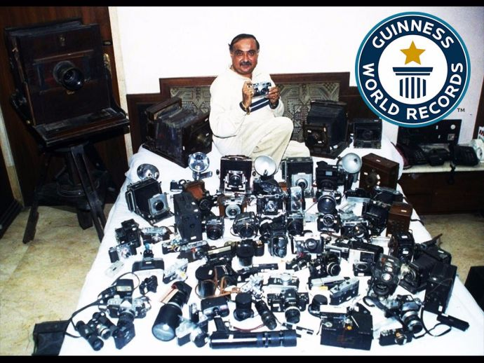 Dilish Parekh, Camera, record, largest, collection, guinness world records, india, antique
