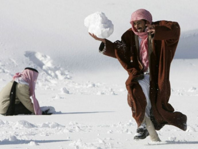 Saudi Arabia, Snow, Magic