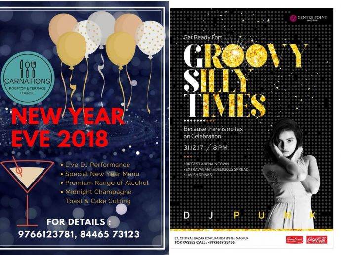 Nagpur, New Year's Eve, New year events, Dance, music, DJ, Midnight, Party, Nagpur events