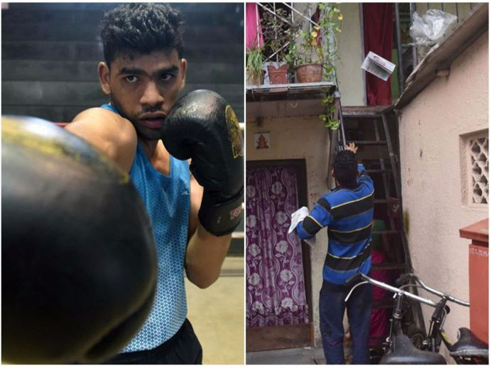 Akshay Mare, National Boxing Medallist, News paper boy
