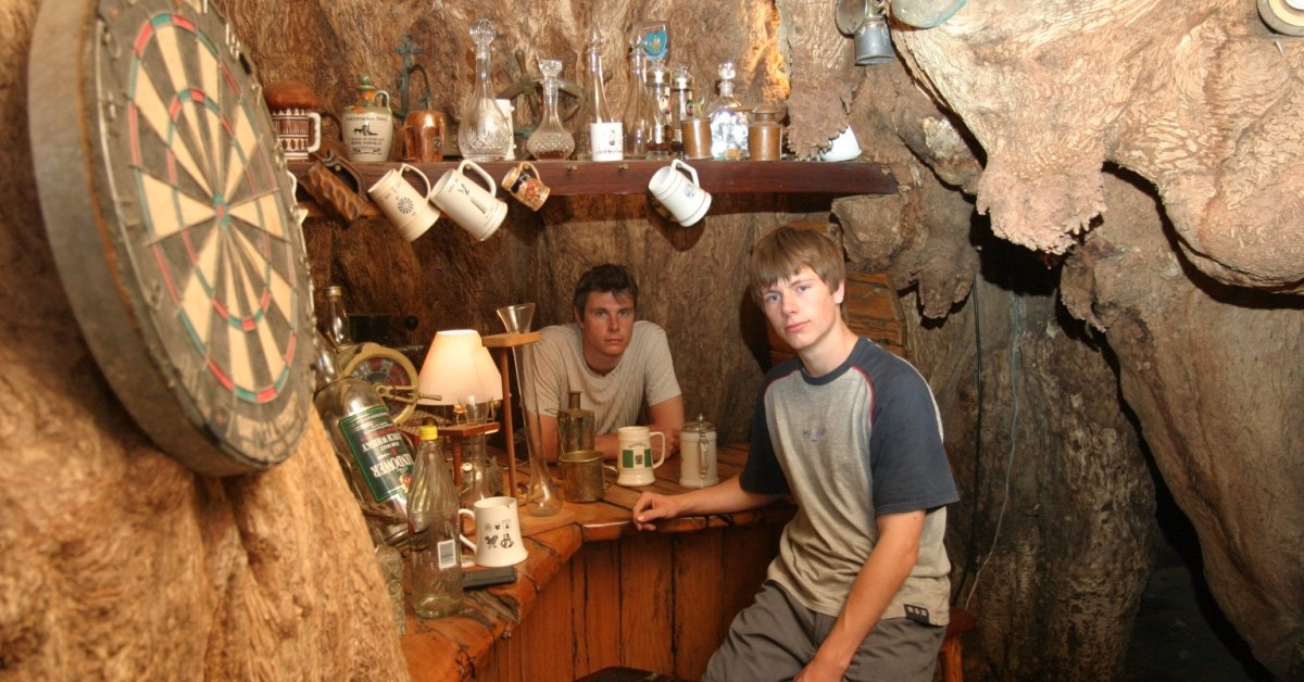6000 Year - Old Baobab Tree That Is Serving As Sunland Bar In South Africa