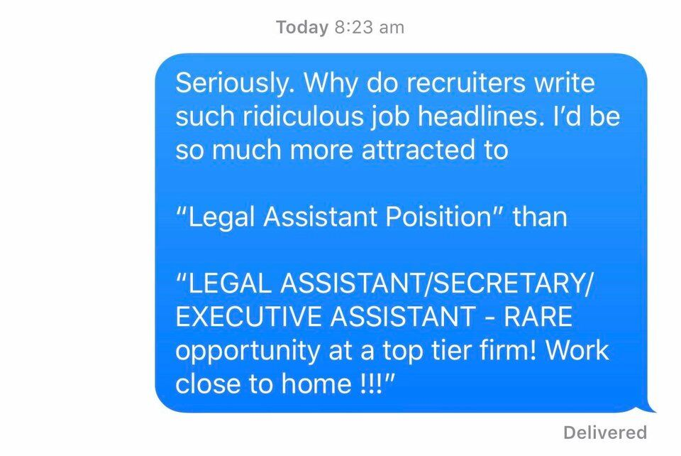 bad messaging by recruiters