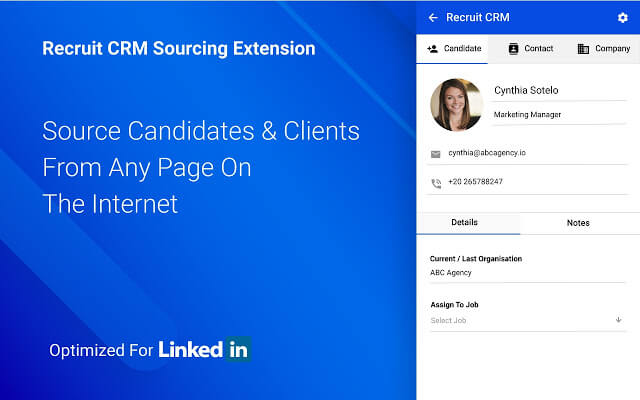 recruit crm chrome extension