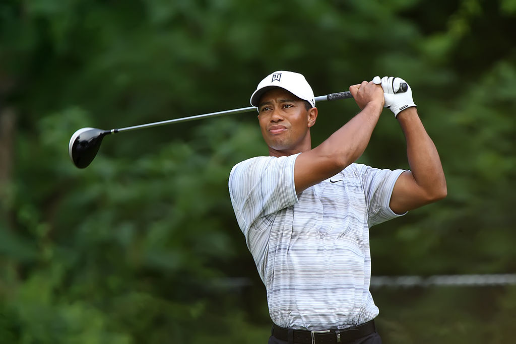 Tiger Woods Drives by Allison via Wikimedia Commons