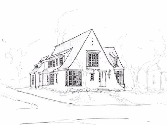 40 Contoh Gambar Sketsa Rumah Dan Cara Membuatnya