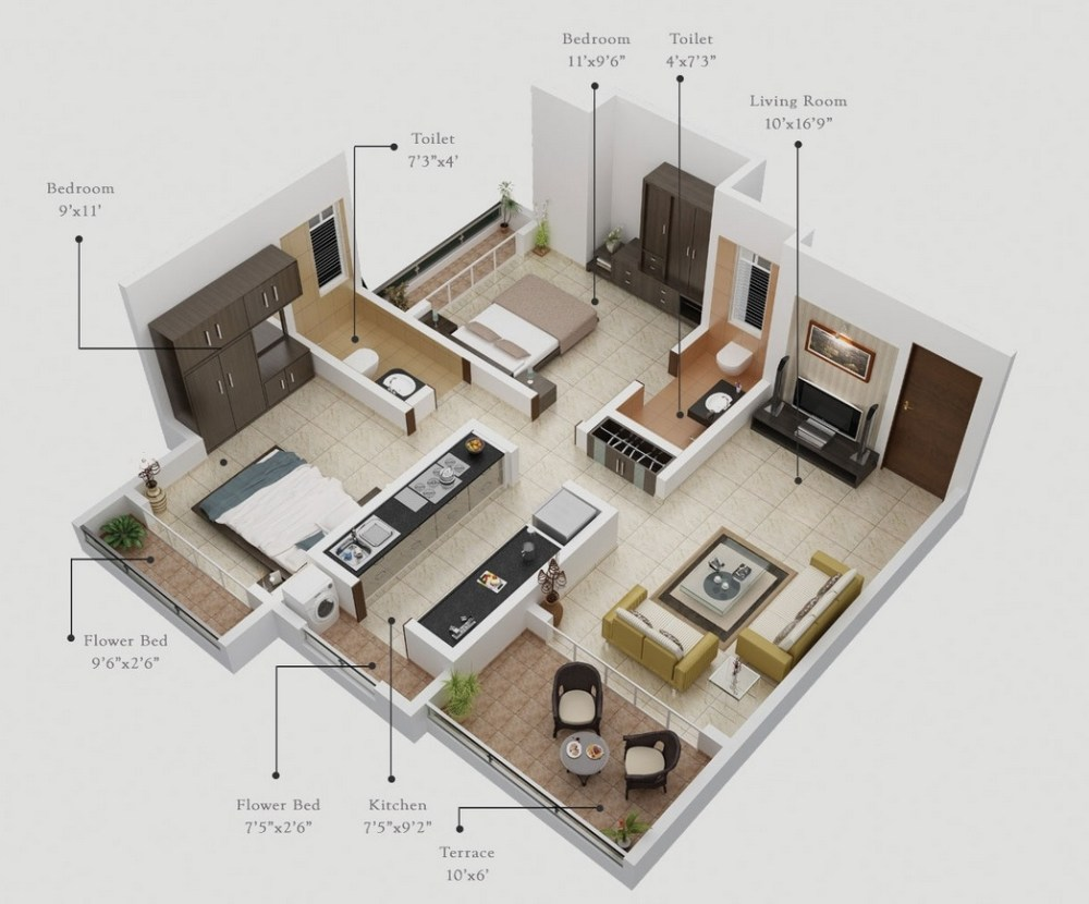 5 Tipe Denah Apartemen, Hunian Mahasiswa dan Keluarga