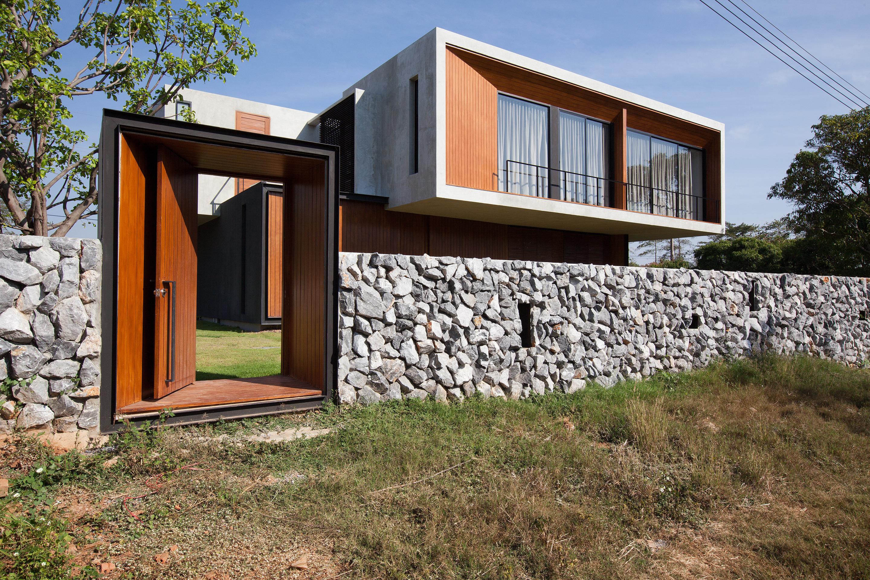 Aneka Desain Pagar Batu Alam Minimalis