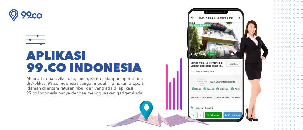 5 Alasan 99.co Indonesia Jadi Aplikasi Properti Terpintar di Tanah Air