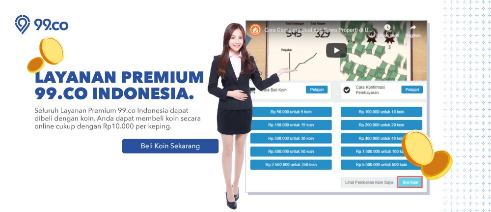 Cara Membeli Koin, Layanan Premium 99.co Indonesia