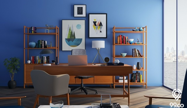 11 Desain Meja Belajar Kreatif untuk Ruang Sempit. Tiru, Yuk!