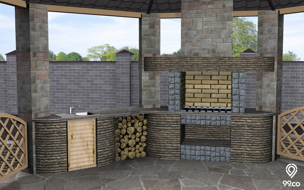 Selain Belakang Rumah, Coba Desain Dapur Terbuka Sederhana di Spot Ini!