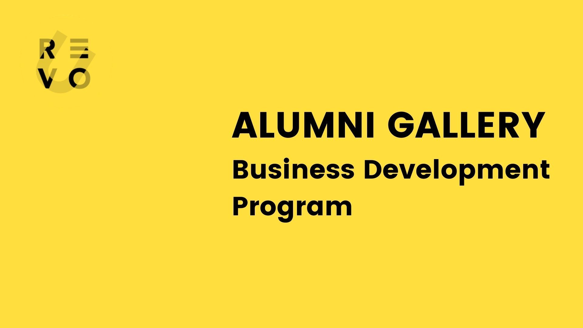 Galeri Alumni RevoU Full Stack Business Development