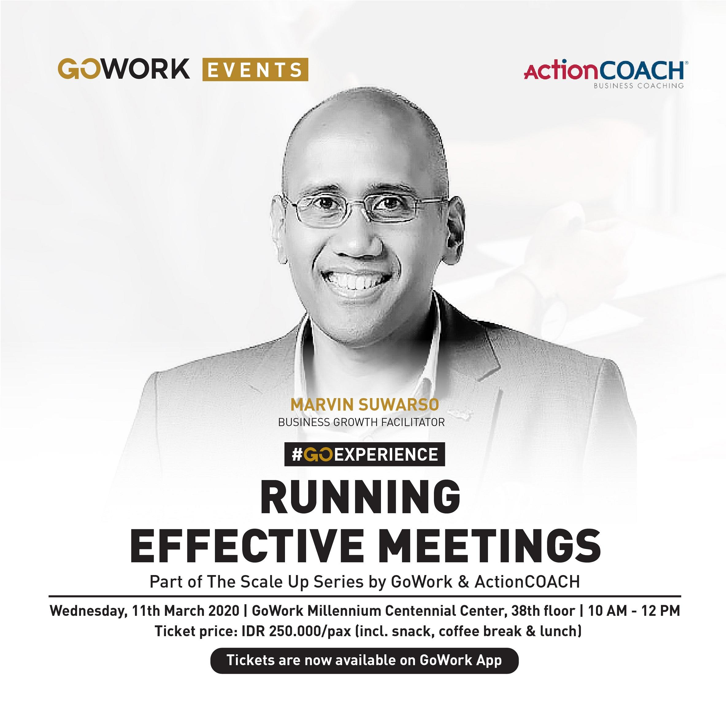GoWork X ActionCOACH : Running Effective Meetings