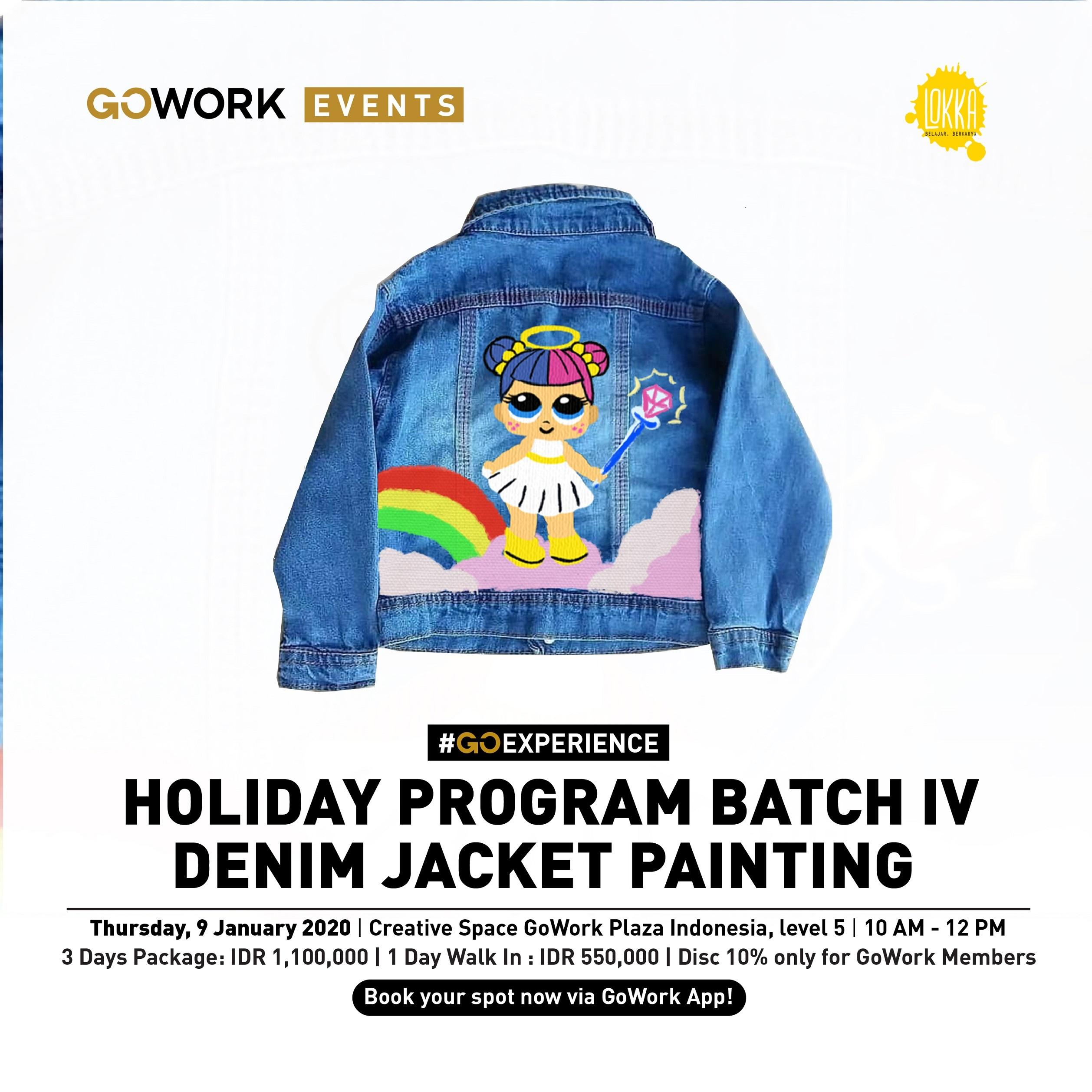 Lokka Holiday Program Batch IV : Denim Jacket Painting