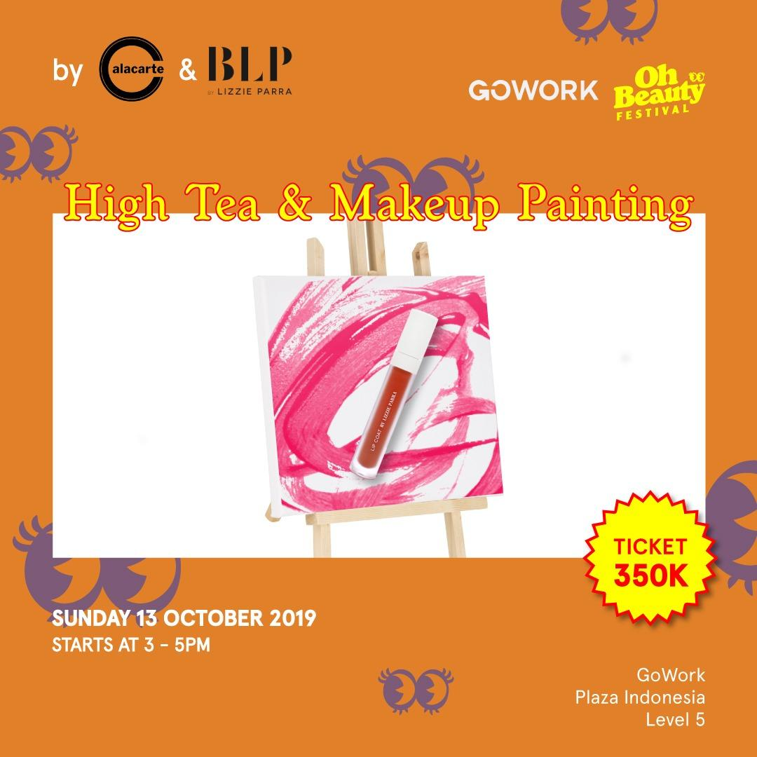 GoWork X Oh Beauty Festival : High Tea & Makeup Painting