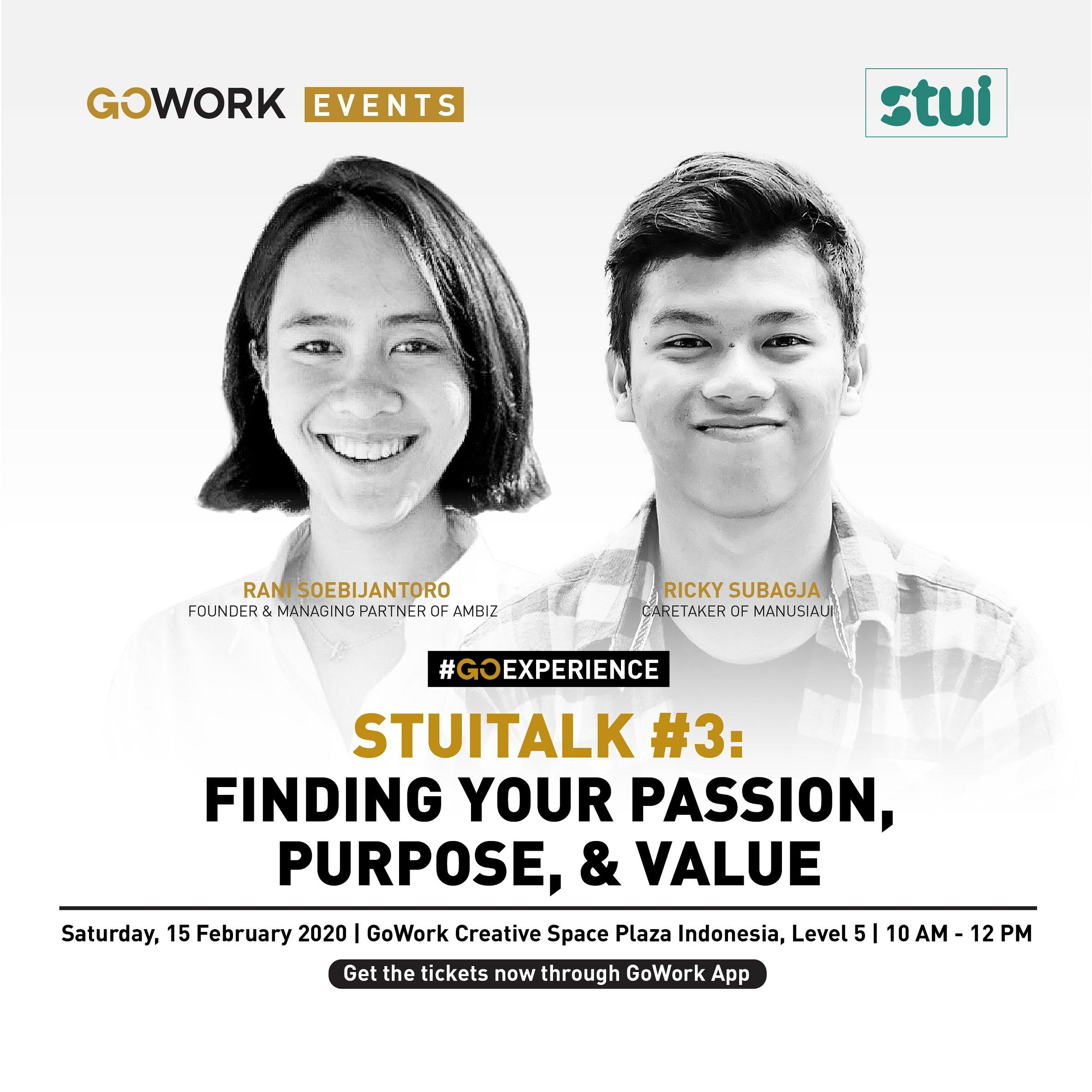 StuiTalk #3 : Finding your Passion, Purpose, Value