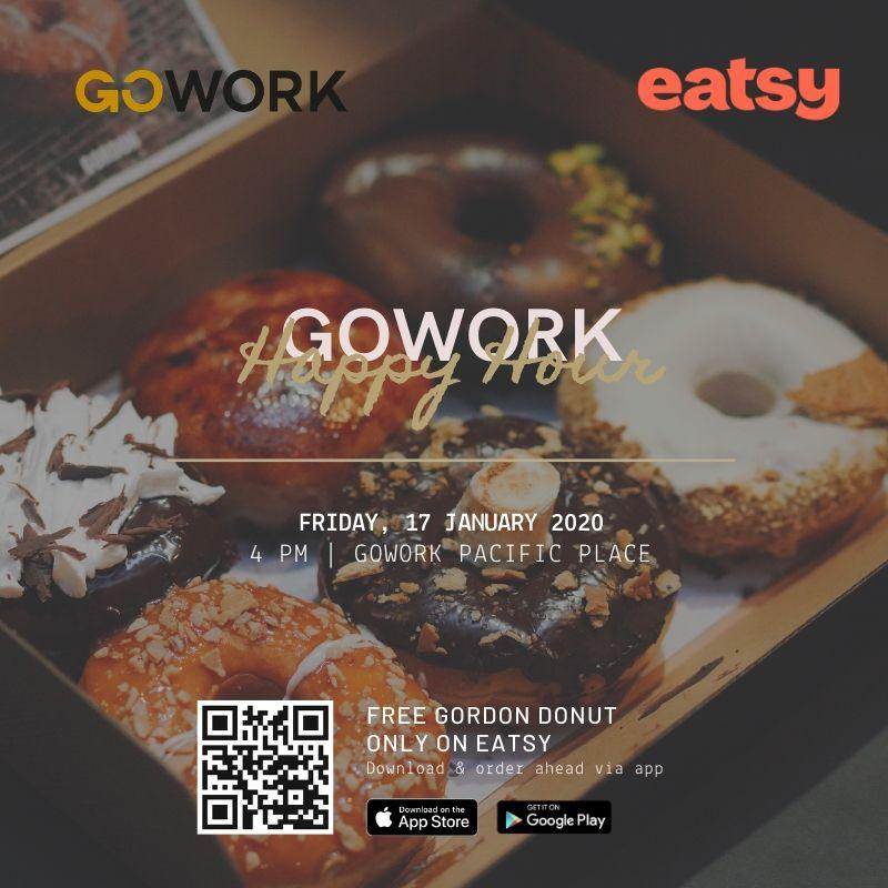 GoWork Happy Hour with Eatsy: Free Gordon Donuts!