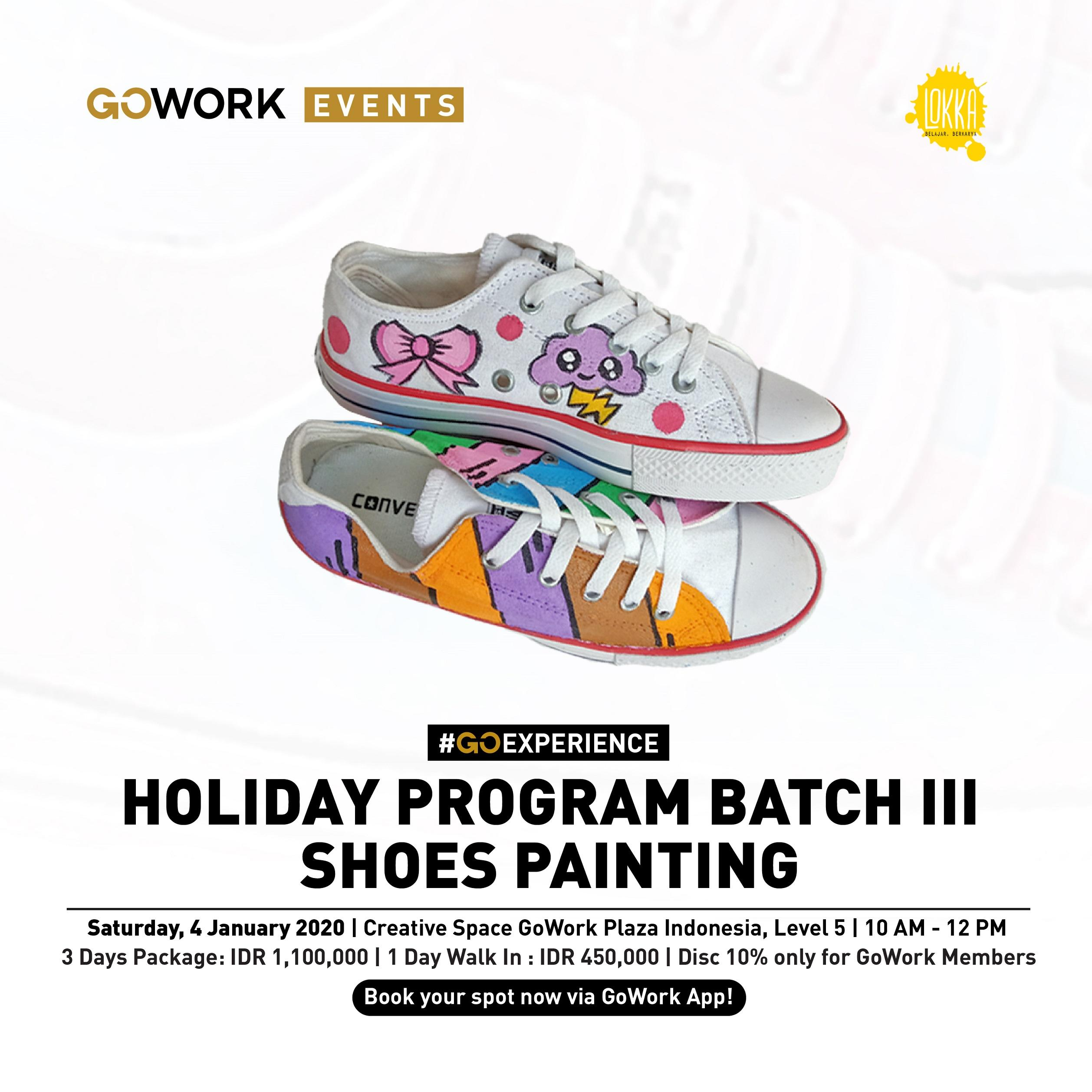 Lokka Holiday Program Batch III : Shoes Painting