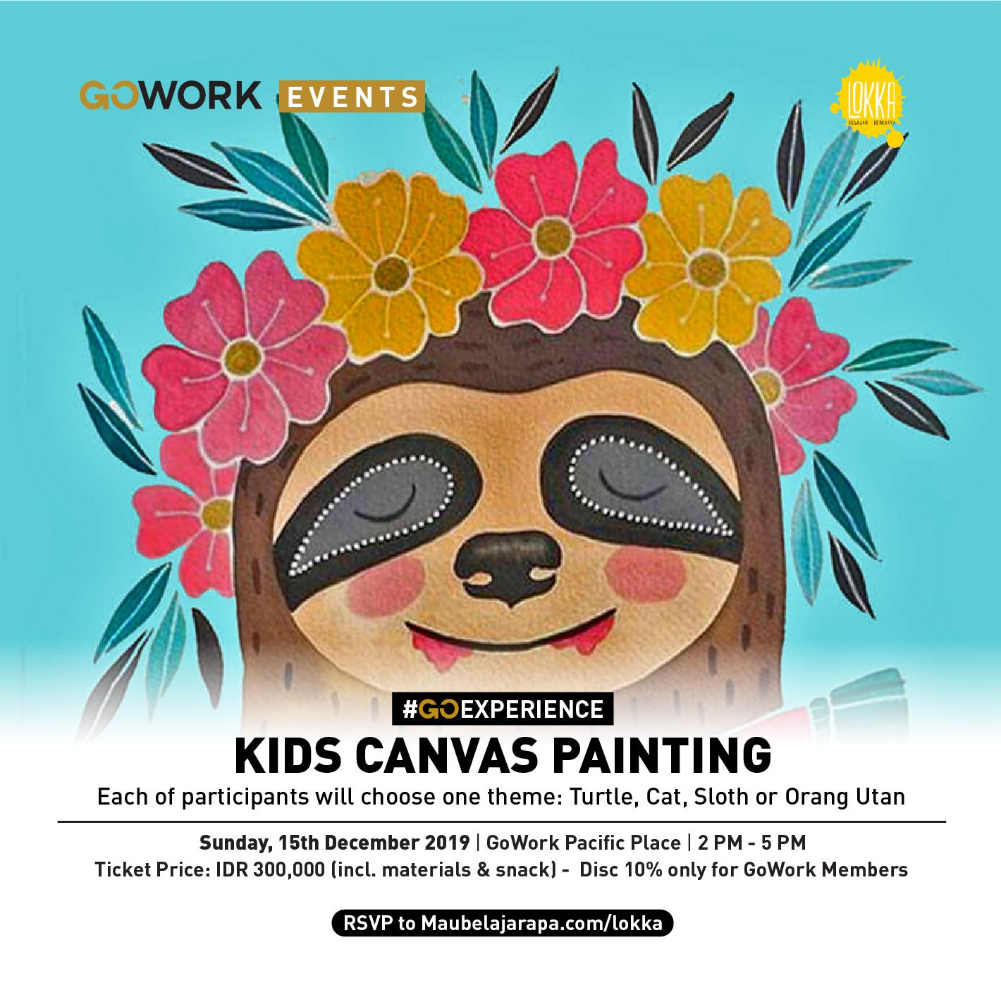 GoWork X Lokka Studio :  Kids Canvas Painting