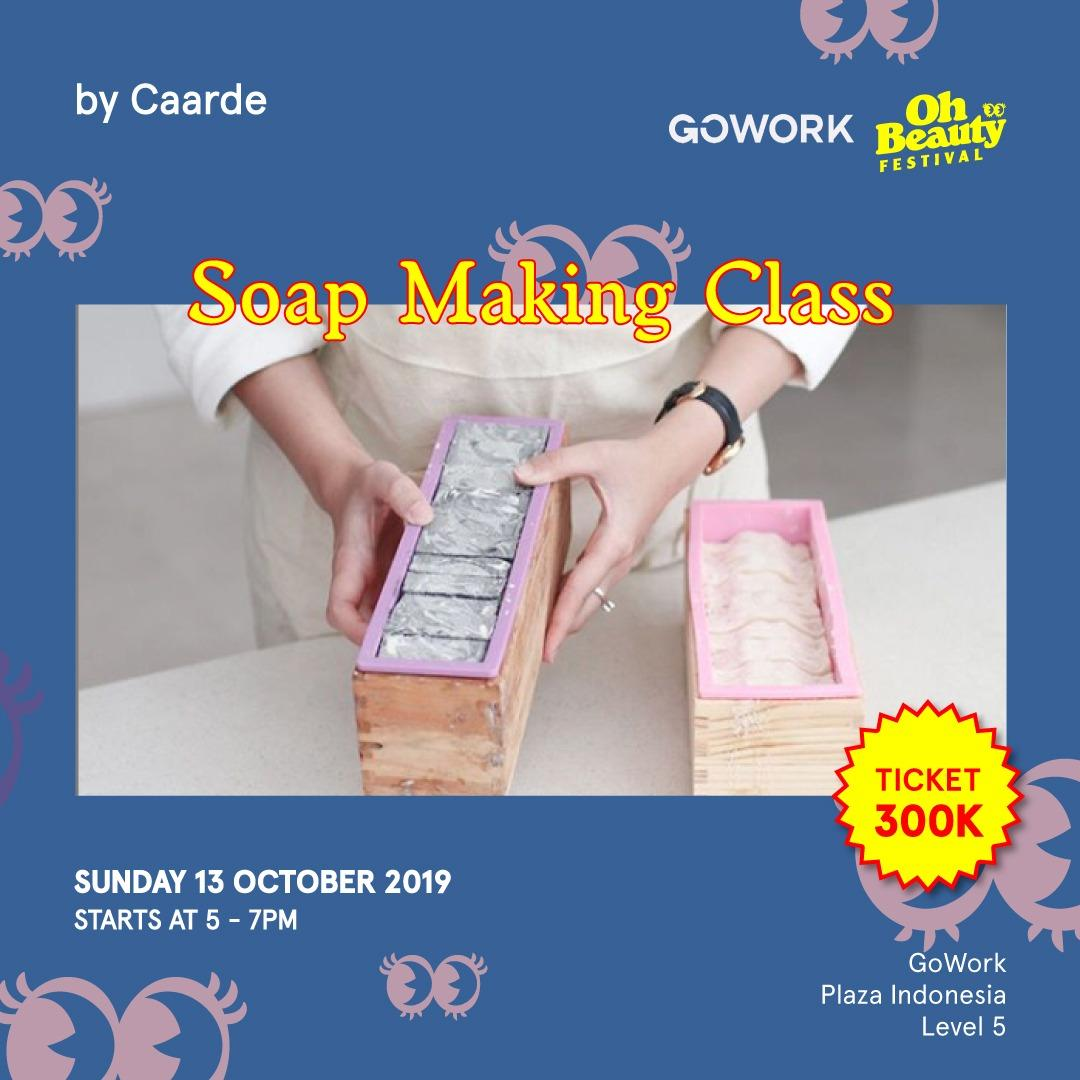 GoWork X Oh Beauty Festival : Soap Making Class