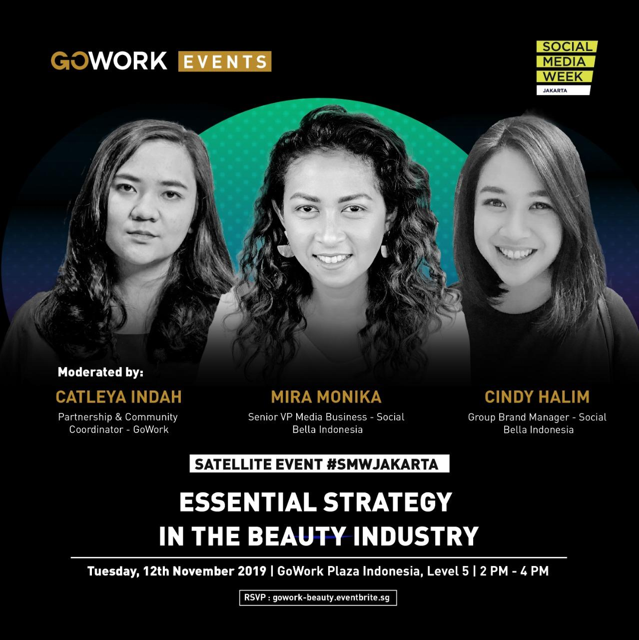 "GoWork X Social Media Week Jakarta: ""Essential Strategy in the Beauty Industry"""