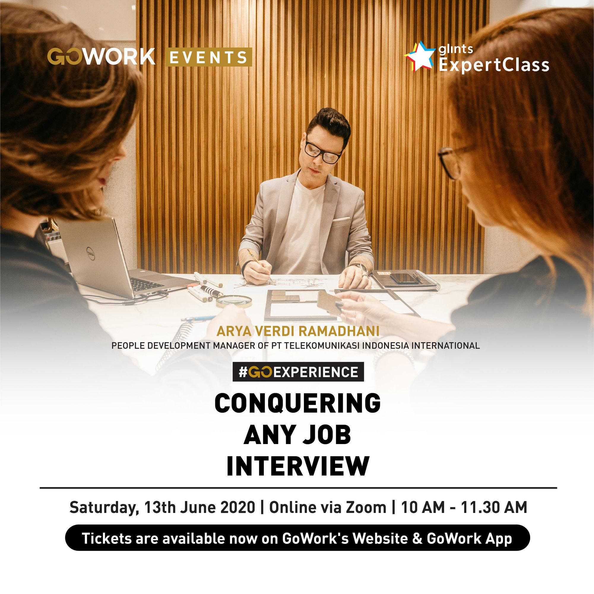 poster conquer any job interview