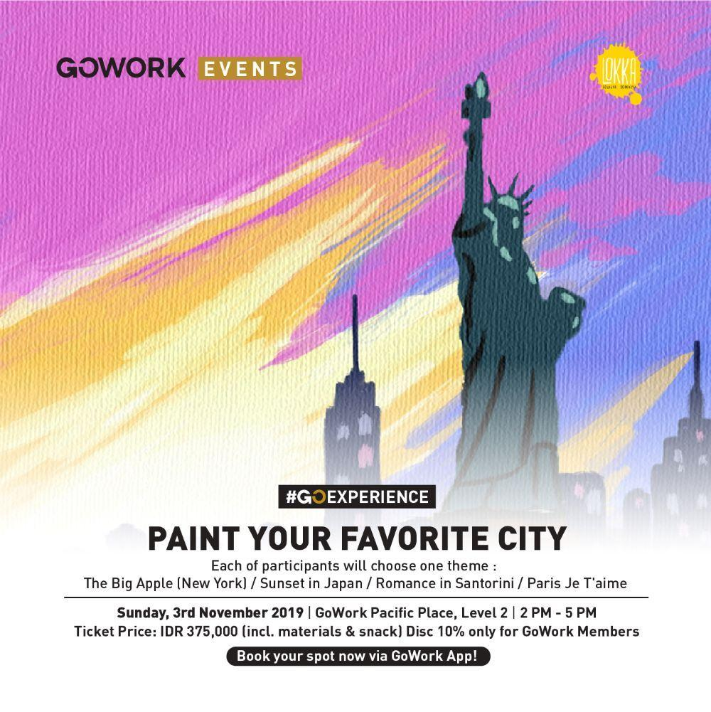 GoWork X Lokka Studio : Paint Your Favorite City