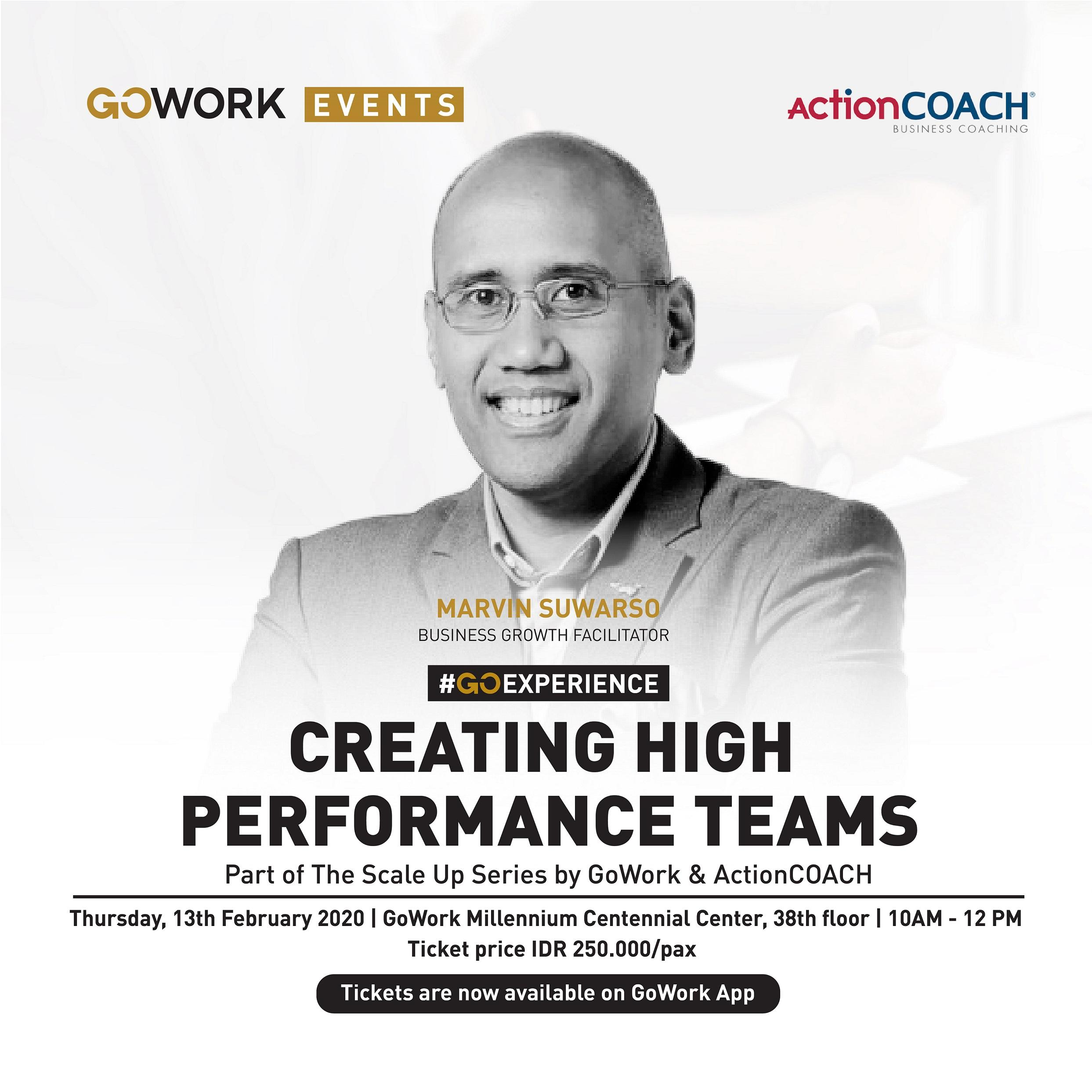 GoWork X ActionCOACH : Creating High Performance Teams