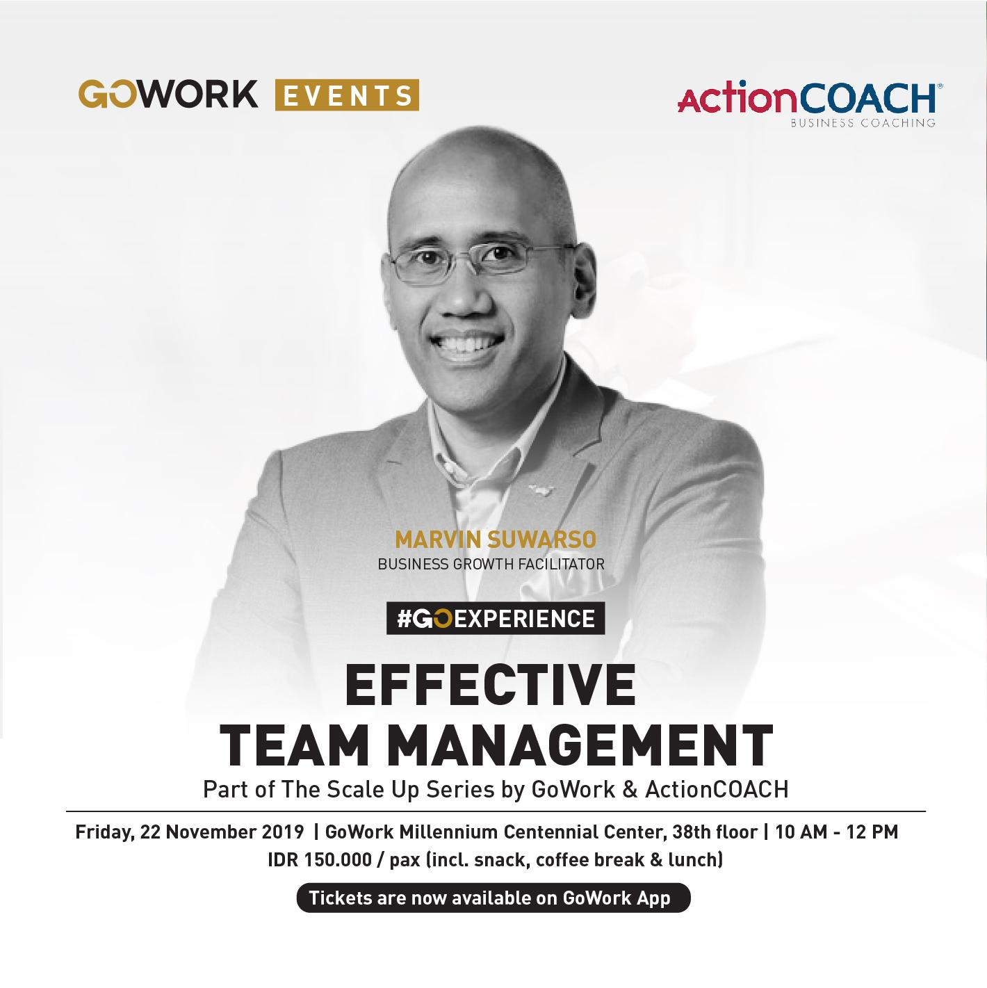 GoWork X ActionCOACH : Effective Team Management With Coach Marvin