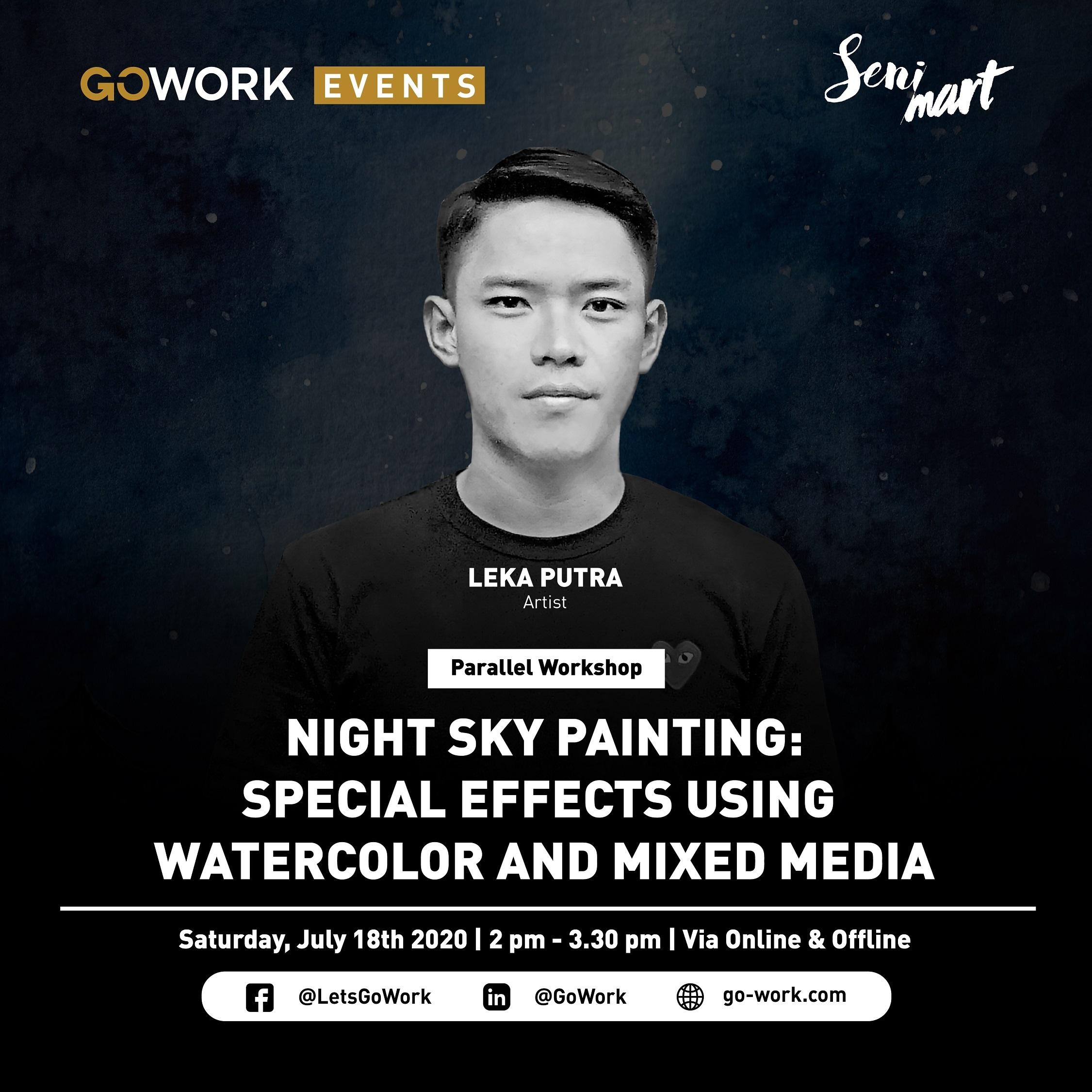 Online Event - Night Sky Painting: Special Effects Using Watercolor & Mixed Media