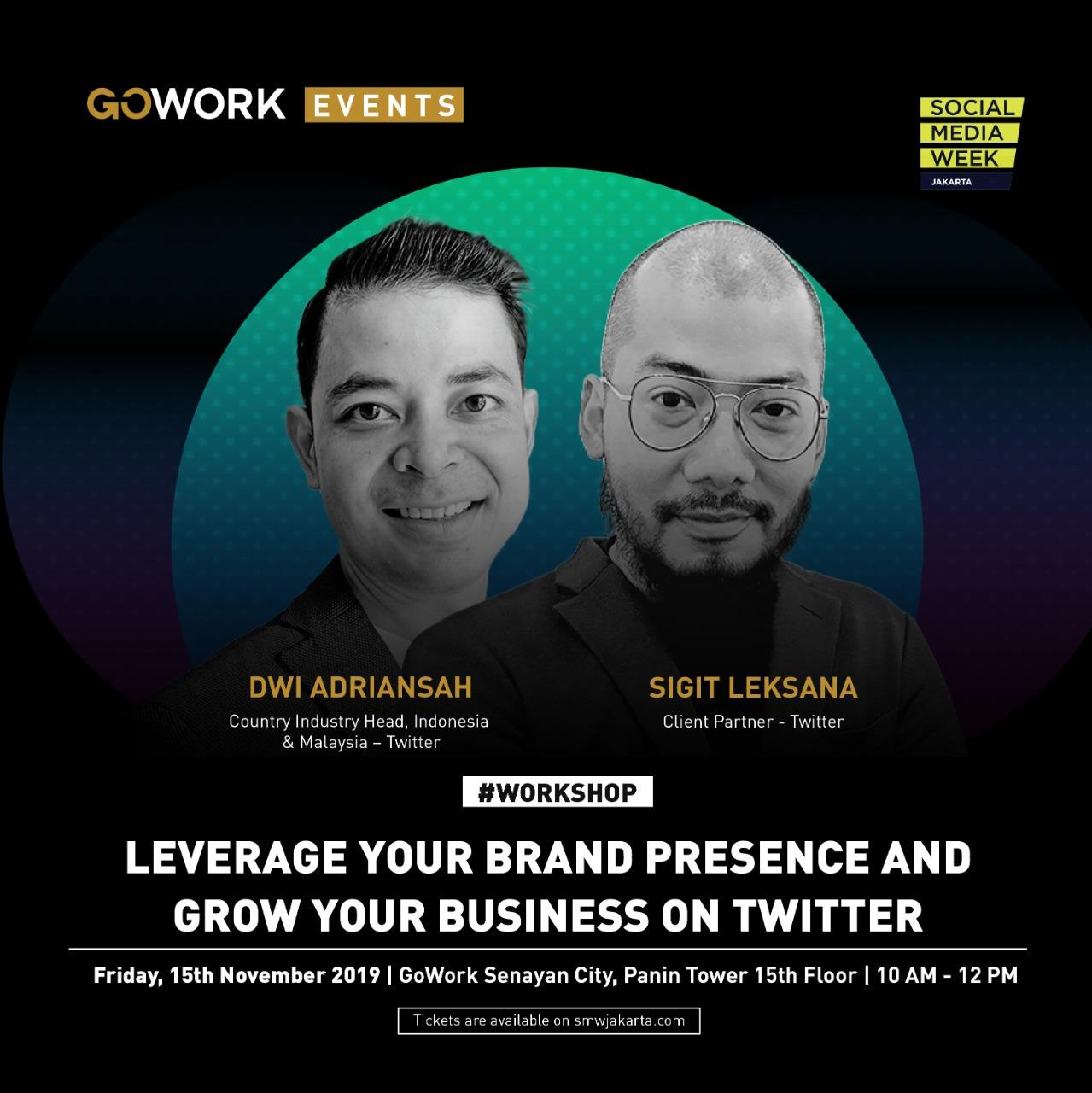 "GoWork X Social Media Week Jakarta: ""Leverage Your Brand Presence and Grow Your Business on Twitter"""