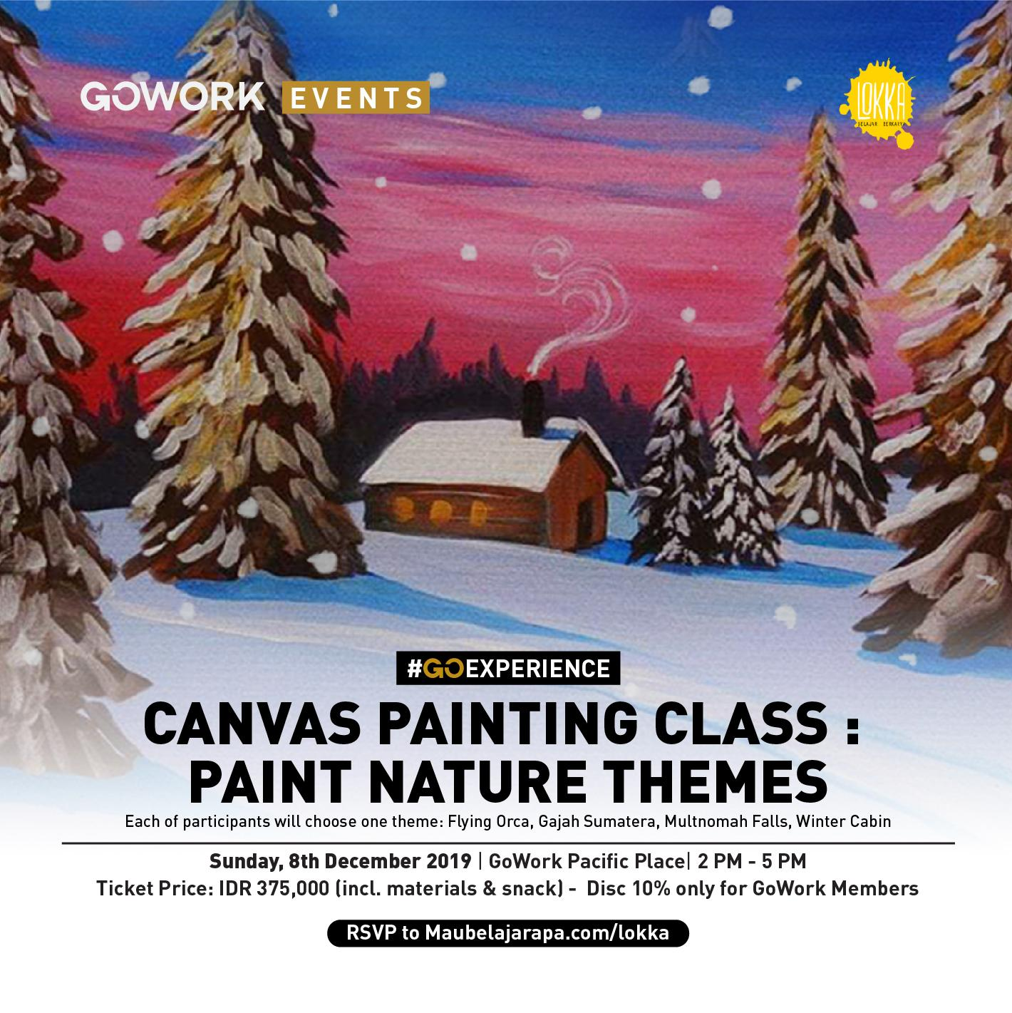 GoWork X Lokka Studio : Paint Nature Themes