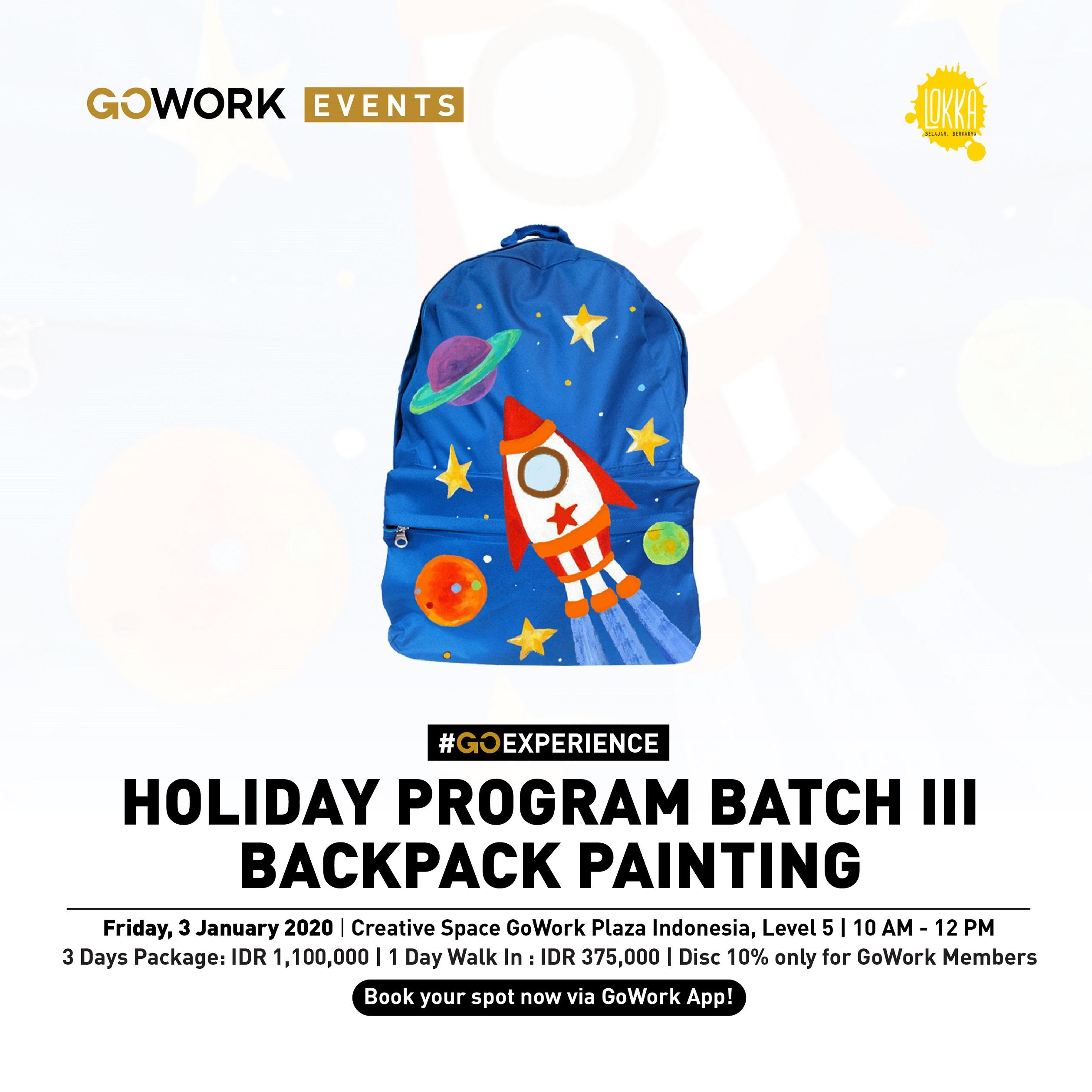 Lokka Holiday Program Batch III : Backpack Painting