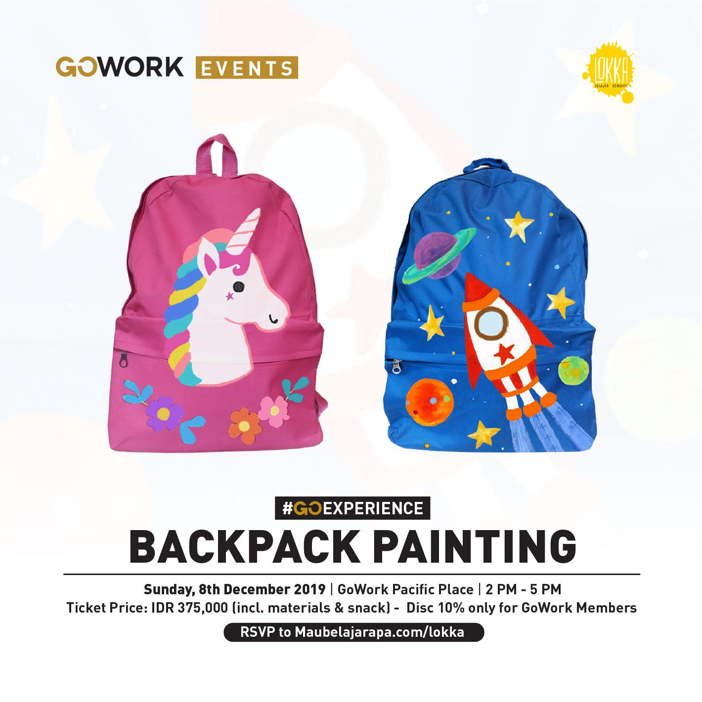 GoWork X Lokka Studio : Backpack Painting