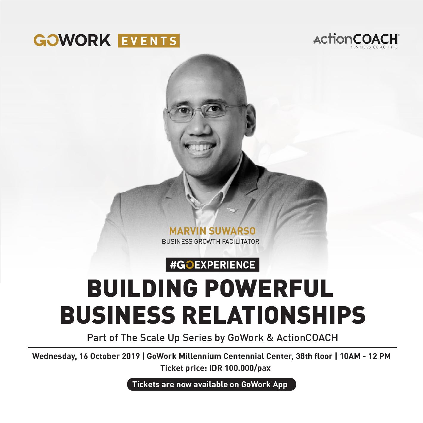 GoWork X ActionCOACH : Building Powerful Business Relationships With Coach Marvin