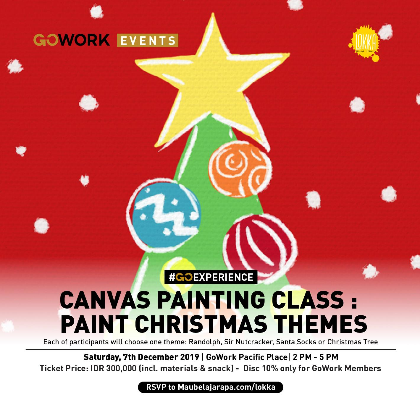 GoWork X Lokka Studio : Paint Christmas Themes
