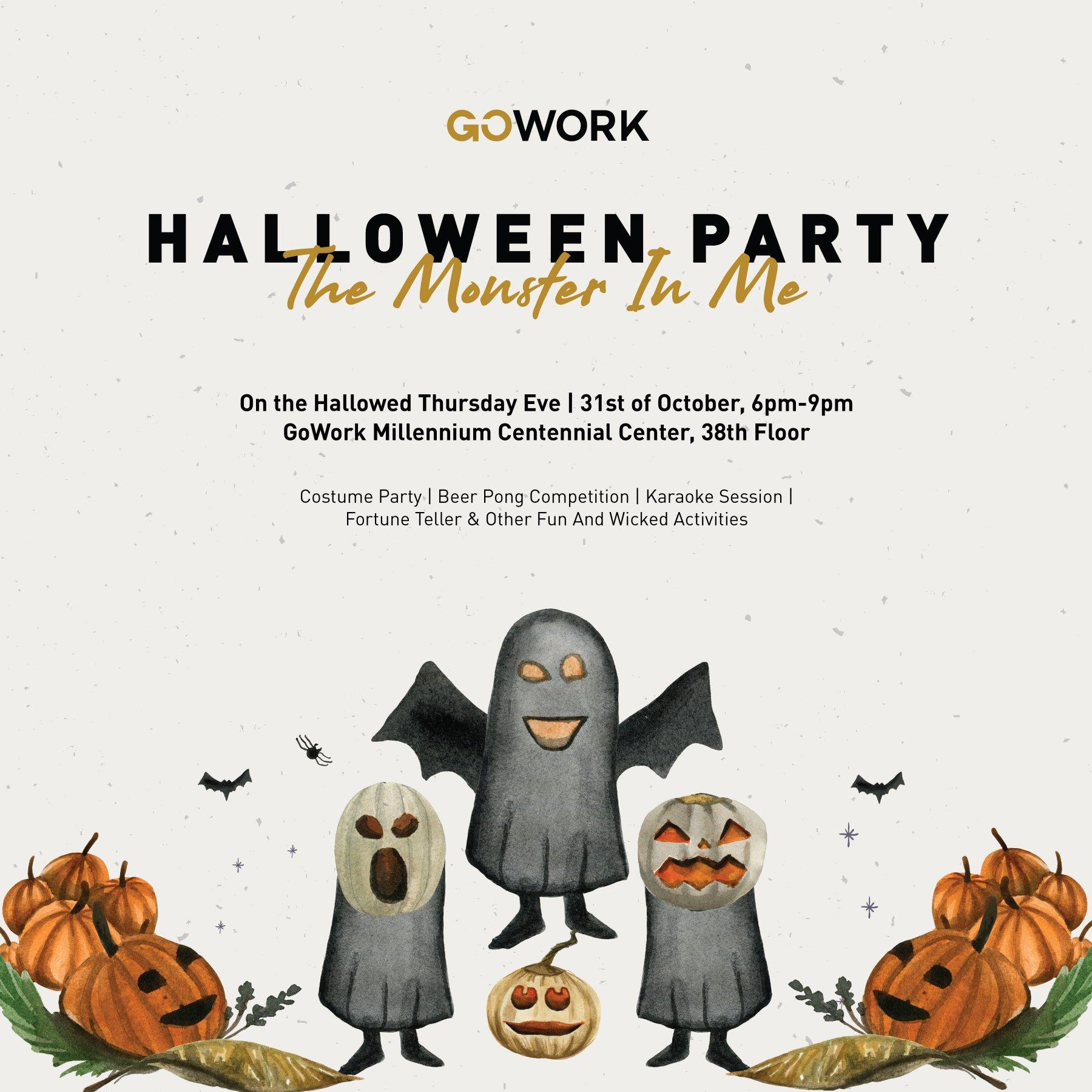 GoWork Halloween Party 2019: The Monster In Me