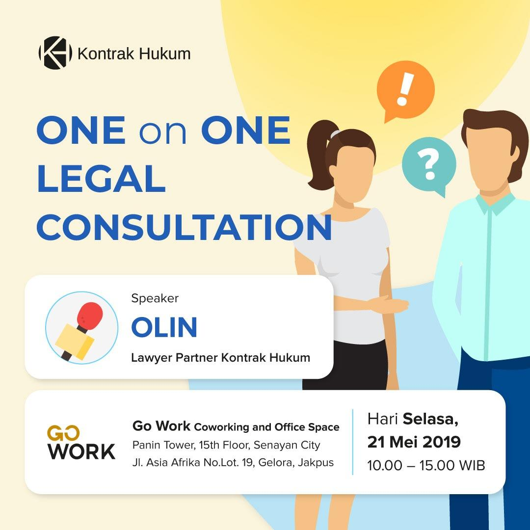 ONE ON ONE LEGAL CONSULTATION WITH KONTRAK HUKUM