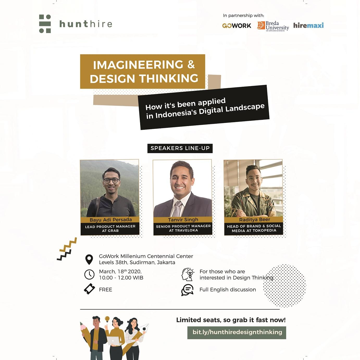 GoWork X Hunthire : Imagineering and Design Thinking in Indonesia's digital landscape