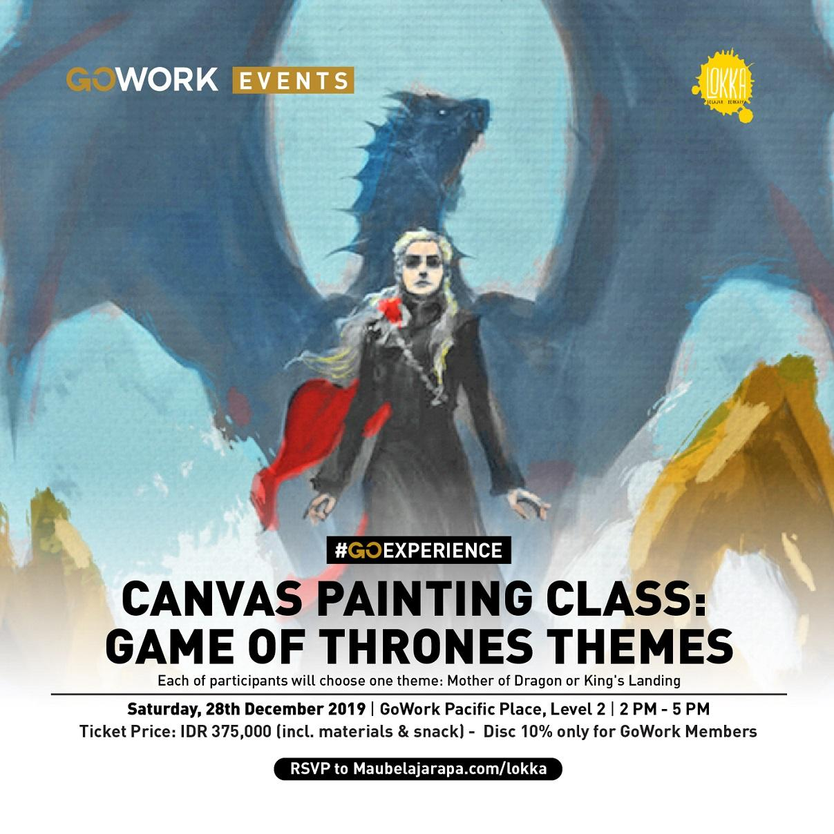 GoWork X Lokka Studio: Paint Game Of Thrones Themes
